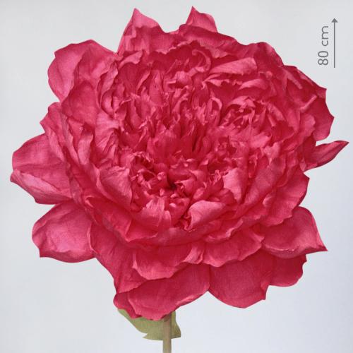 "Бумажный цветок ""Пион алый"""