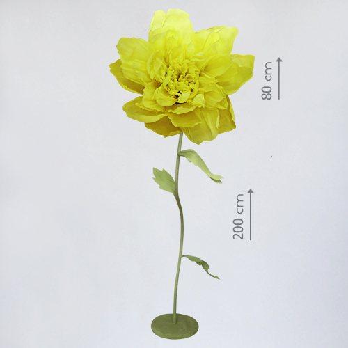 "Бумажный цветок ""Пион желтый"""