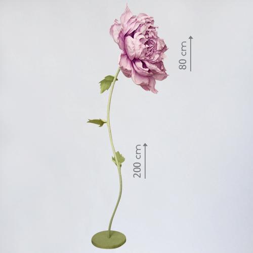 """Бумажный цветок """"Пион розовый"""""""