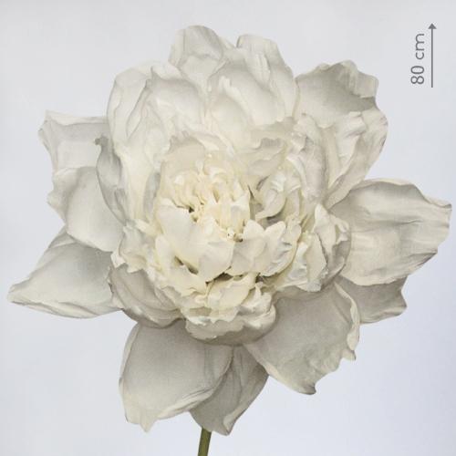 """Бумажный цветок """"Пион белый"""""""