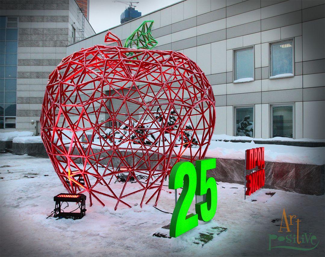 изготовление полигонального яблока
