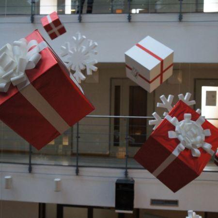 новогоднее оформление банка